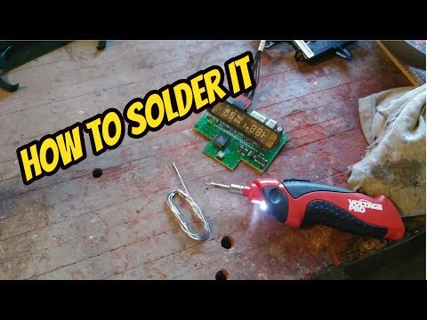 How To Solder Something - Soldering A Resister