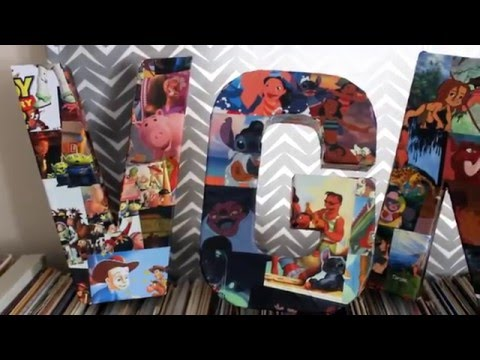 How to Make a Letter Collage: DCP Roommate Gift