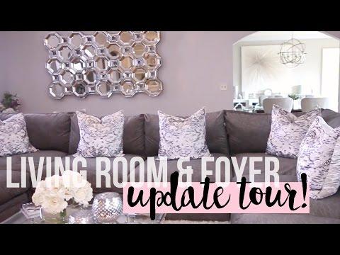 Living Room & Foyer Update Tour 2016   New Furniture #HOUSETOHOME Ep. 9