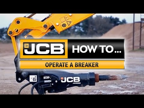 JCB How to operate a breaker