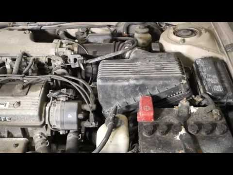 How to replace air filter Toyota Corolla years 1992 to 1999