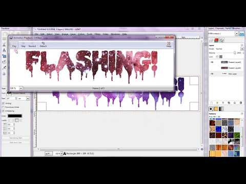 How to make a flashing nebula banner in GIMP 2.6