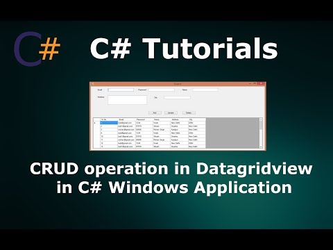 CRUD(Insert Update Delete) Operations in Datagridview in C# Windows Application