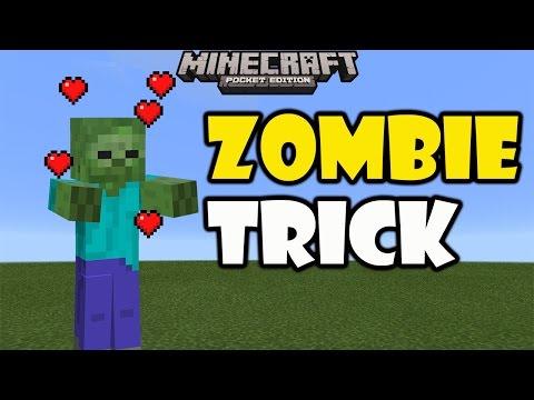 ZOMBIE TRICK | Minecraft PE 0.16.0 | No Mods, No Add ons