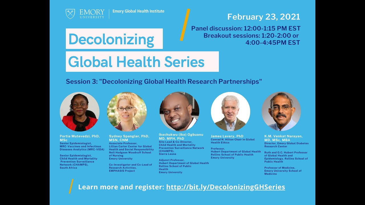 """Decolonizing Global Health Series 