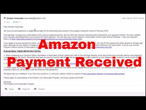 When Do I Get Paid Through The Amazon Associate Affiliate Account