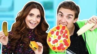 GUMMY FOOD vs REAL FOOD!