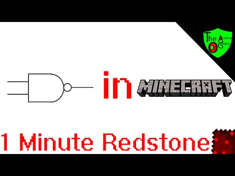 How to Build A NAND Gate in Minecraft - 1 Minute Redstone Tutorial