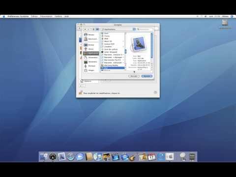 29 • Ouverture automatique d'applications • Mac OS X Tiger (tutoriel vidéo)