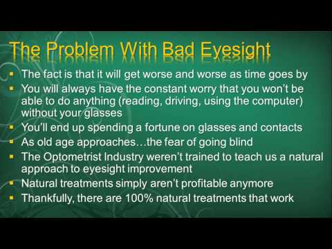 Eye Exercises Improve Eyesight - Is It Possible To Improve Your Vision Naturally?  (Part 1)