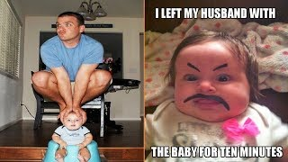 When You Leave Dad Alone With the Baby