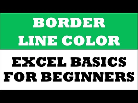 How to Change Border Line Color in MS Excel 2016
