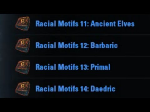 Ancient Elves, Barbaric, Primal, Daedric Motifs - ESO How To Find.