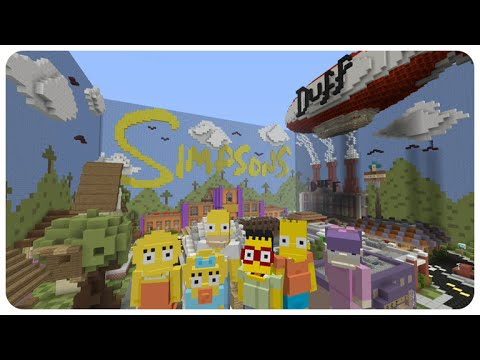Minecraft Xbox Hide And Seek - The Simpsons Adventure With Friends