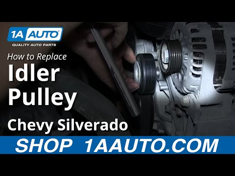 How To Install replace Squeaky Serpent Belt Idler Pulley 2007-13 Chevy Silverado GMC Sierra