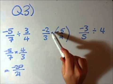 How to do Negative Fractions ... and Converting between Fractions and Decimals