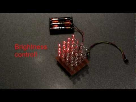 Build this simple LED cube 4x4x4