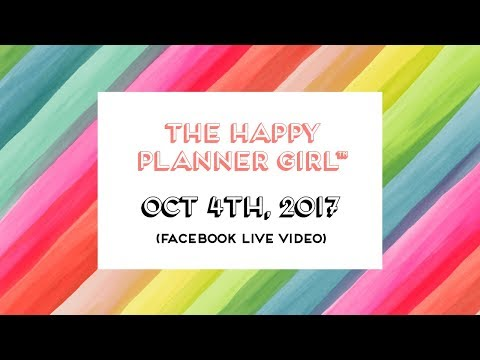 The Happy Planner Girl™ Product Details // Facebook LIVE