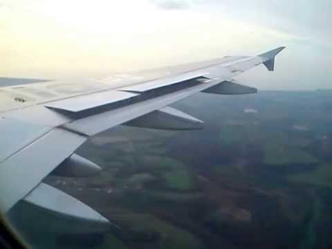 Alitalia A319  descending and landing at Rome from Pisa
