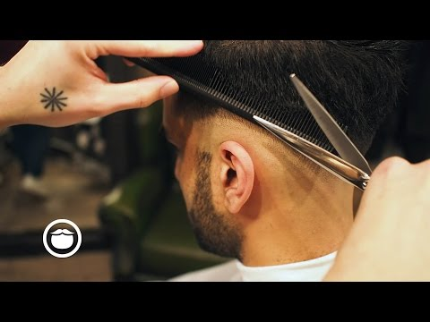 Skin Fade and Pompadour | Cut and Grind