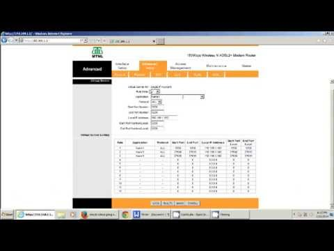 How To DO port forwarding in any router (mine MTNL) for servers and sites....
