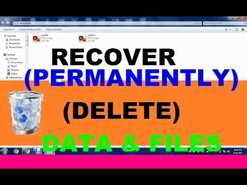 How to recover permanently deleted data and files  (100% solution)