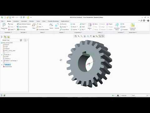 How to Design Helical Gears on CREO with Dimensions...