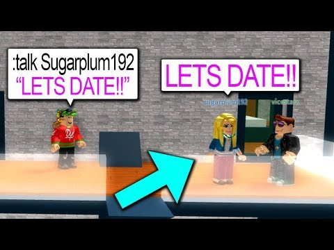 MAKING PEOPLE DATE WITH ADMIN COMMANDS!! (Roblox)