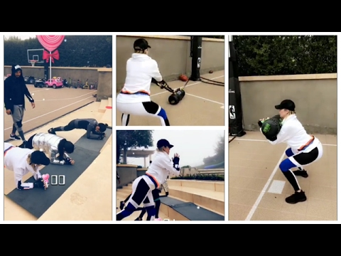 KHLOE KARDASHIAN WORKOUT | FITNESS | KOURTNEY KARDASHIAN | SNAPCHAT STORIES