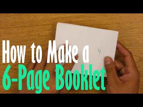 How to Make a 6-page Booklet