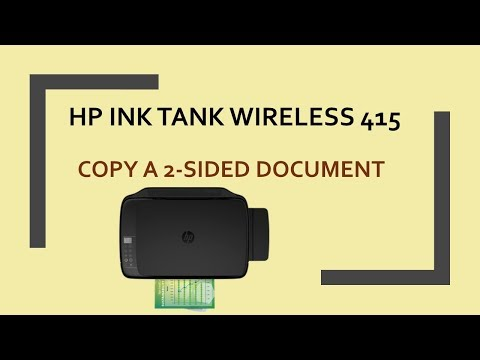 HP Ink Tank Wireless 415 | 419 | 418 | 410 : Copy a 2 sided document