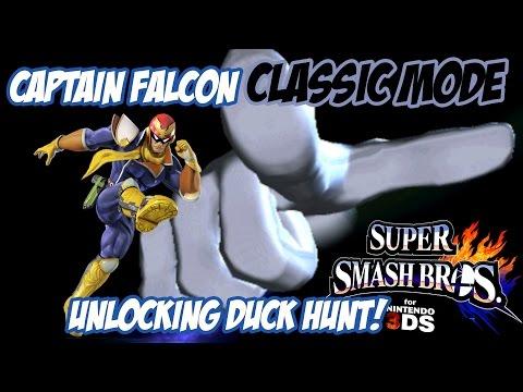 Unlocking Duck Hunt! - Super Smash Bros. for 3DS! [Classic - Captain Falcon]
