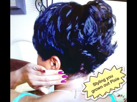 Short Hair Tutorial: Styling your grown out Pixie - Back Flips