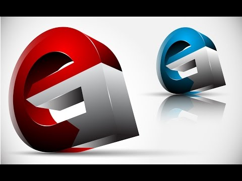 How to create FULL 3D Logo Design in Adobe Illustrator CS5 HD1080p (eG)
