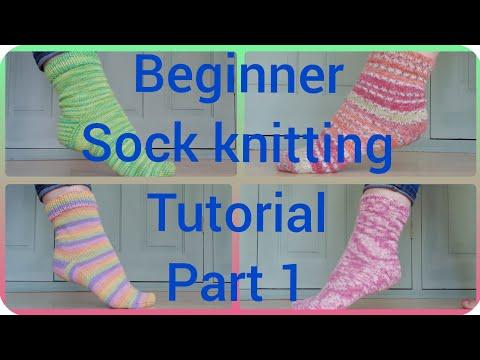 Sock knitting tutorial preparation video