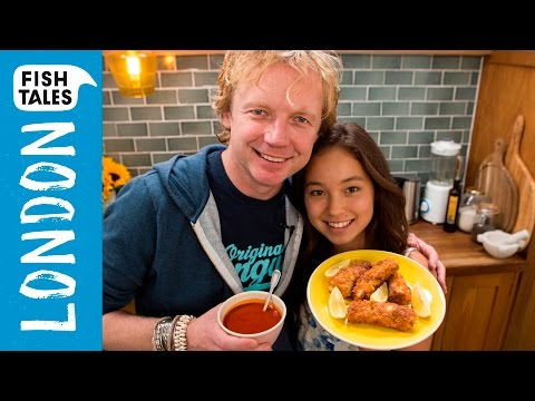 Home made FISH FINGERS Sticks & KETCHUP | Bart's Fish Tales & Cook With Amber