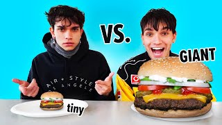 GIANT VS TINY FOOD CHALLENGE! | Lucas and Marcus