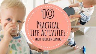 Montessori Practical Life Activities   Toddler 12-18 months