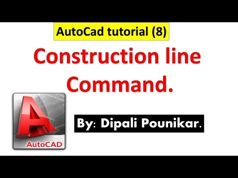 Autocad tutorial (8) on Construction line command.