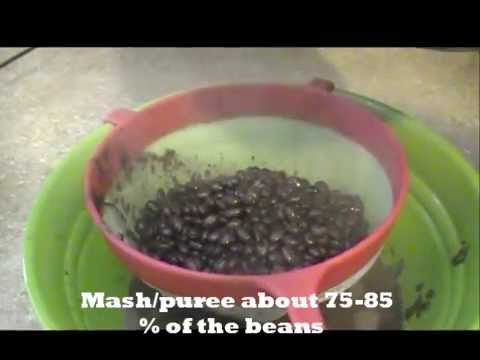 ♥5♥ Haitian  Food: black beans puree with coconut - sòs pwa nwa ak kokoye -sauce pois