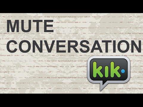 Mute conversation on Kik