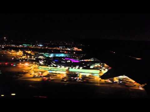 British Airways A320 night departure from Heathrow