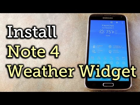 Get the Note 4's Weather Widget on Your Galaxy S5 [How-To]
