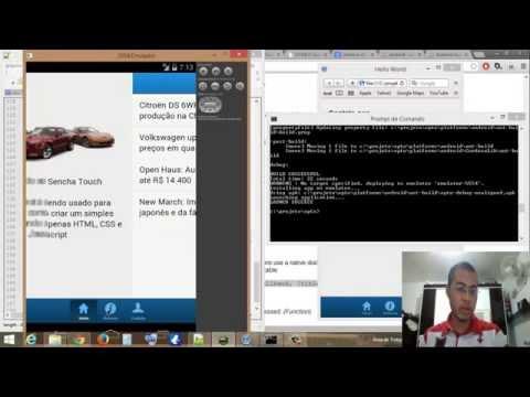Criando um simples aplicativo com Sencha Touch e Cordova