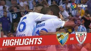 Resumen de Málaga CF vs Athletic Club (2-1)
