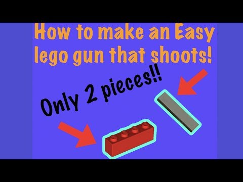 How to build a super easy lego gun! (only 2 pieces!)