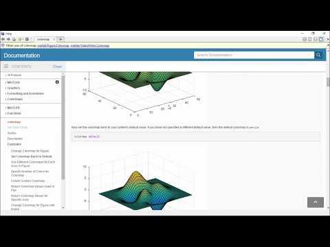 PLot3, Mesh, Surf, Stem3, Colorbar, colormap and Shading Matlab