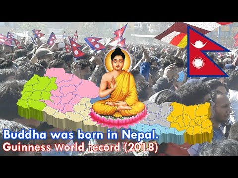 Buddha was born in Nepal, Guinness World Record (3/3/2018) Tundikhel