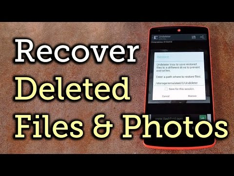 How to restore deleted apps, photos or videos in android