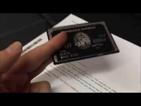 Best METAL American Express Centurion Card Replica (Black Card)